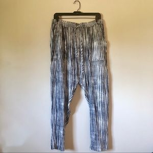 FREE PEOPLE DREAM ON HAREM PANTS WITH BLUE STRIPES